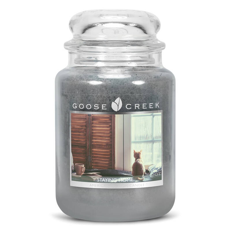 Staying Home Candle Jar