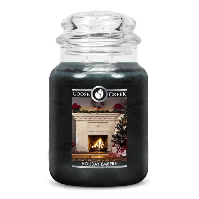 Holiday Embers Candle Jar