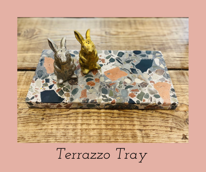 Recycled Material - Terrazzo Tray / Serving Tray