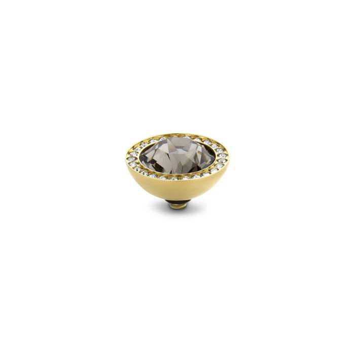 Melano twisted 10 mm stone diamond goud