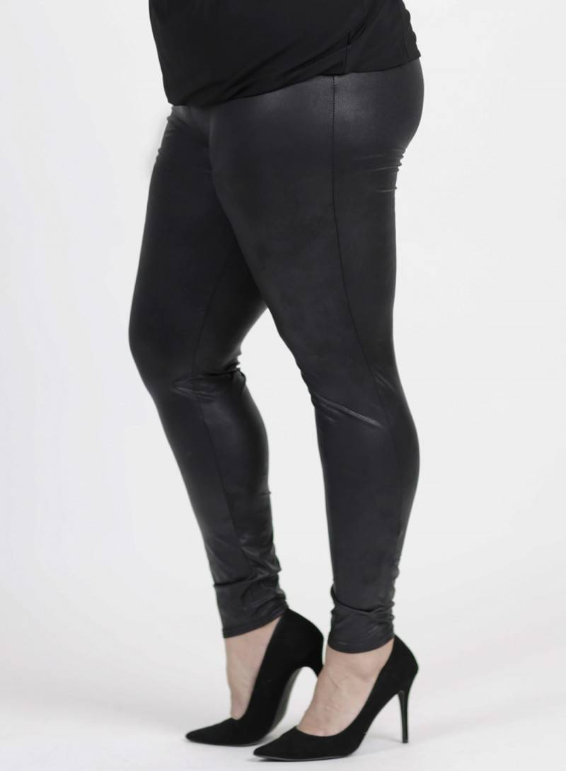 Magna Legging Lederlook - Curvy Fashion