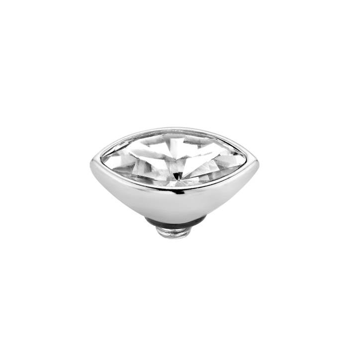 Melano twisted Marquise Stone crystal zilver