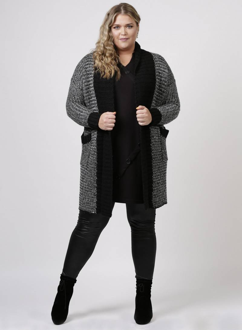Zeffa Lange Cardigan - Curvy Fashion