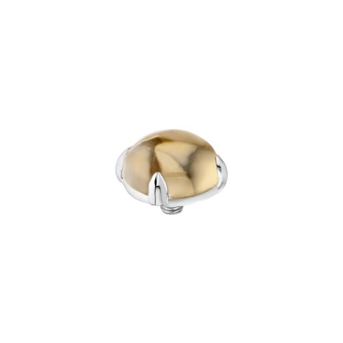 Melano Twisted stone 8mm Bold Champagne Zilver
