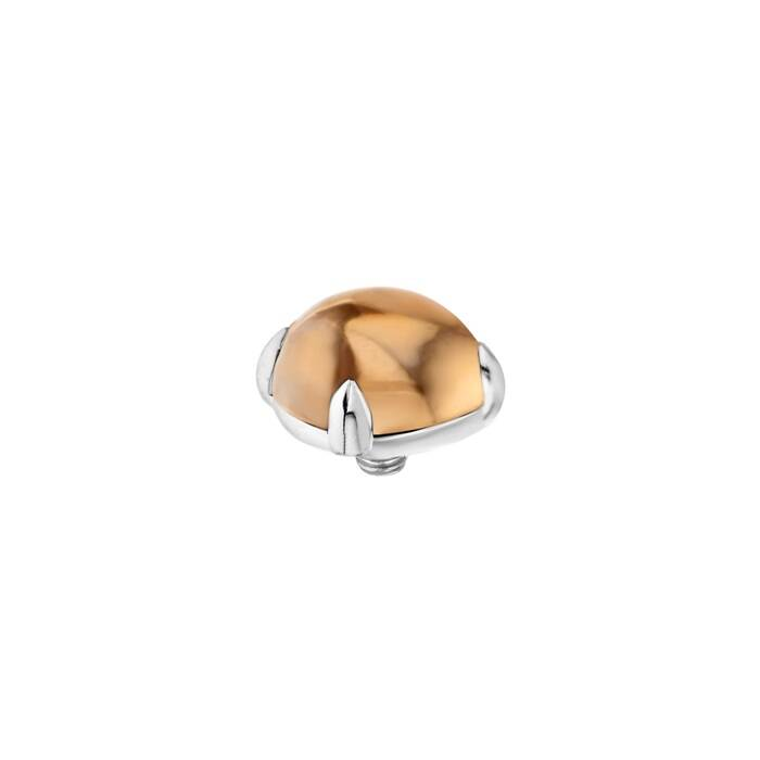 Melano twisted stone 8mm bold salmon zilver