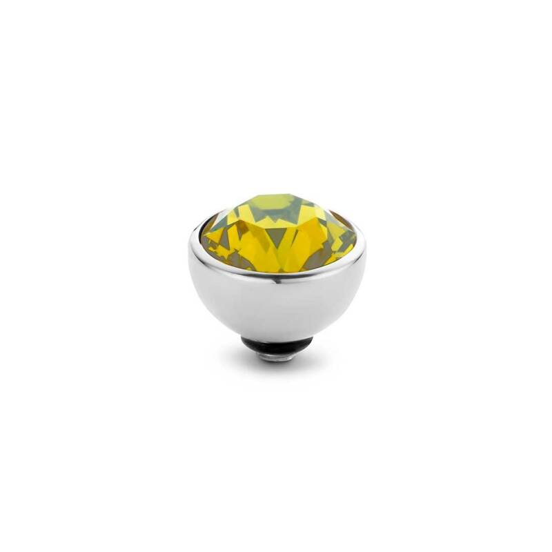 Melano twisted stone 8mm yellow zilver