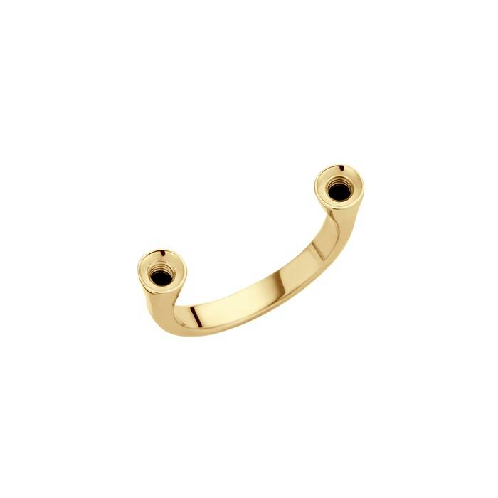 Melano twisted ring open goud