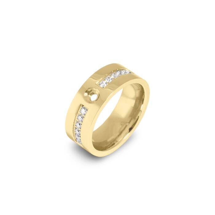 Melano twisted ring flat basic goud