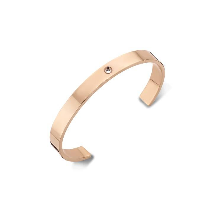 Melano twisted Wide armband rosé