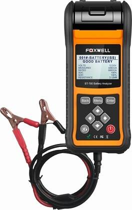 Topmodel Foxwell Bt780 accutester printer 6 en 12 volt, 12 en 24 volt