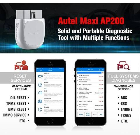 Autel AP200, Android en IOS APPLE