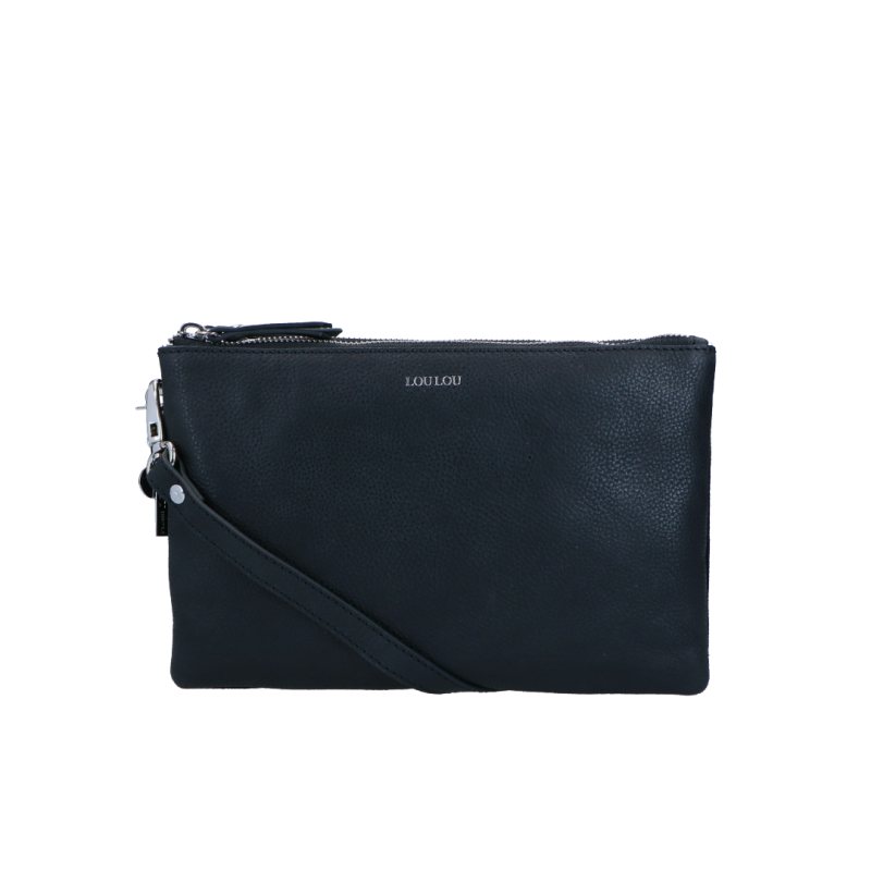 Crossbody Clutch Robuste | Zwart van LouLou Essentials.
