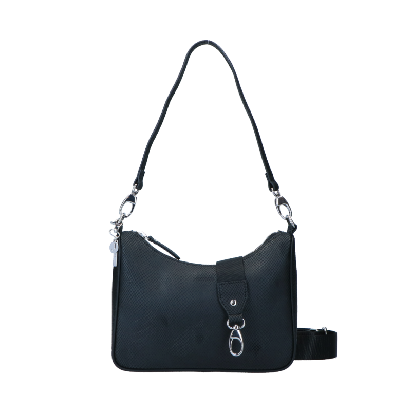 Schoudertas Queen Silver | Black van LouLou Essentials.