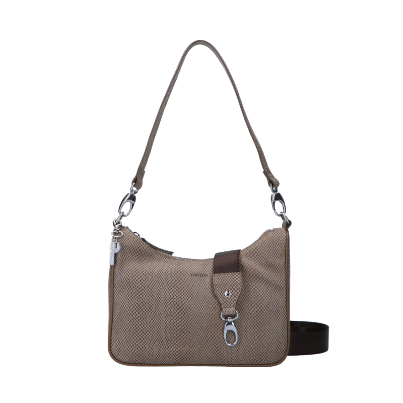 Schoudertas Queen Silver | Taupe van LouLou Essentials.