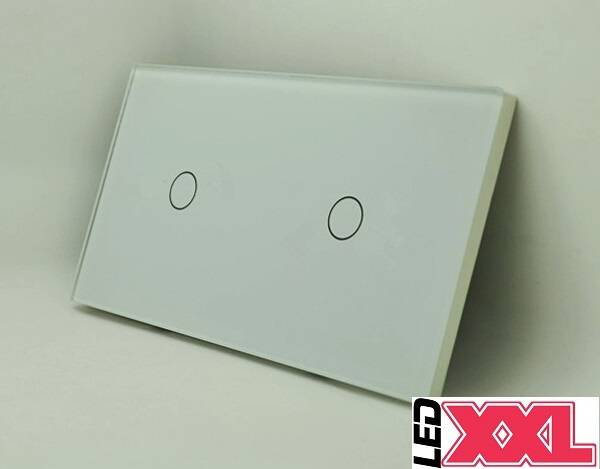 Touch LED dimmer 1 + 1 kanaal  WIT