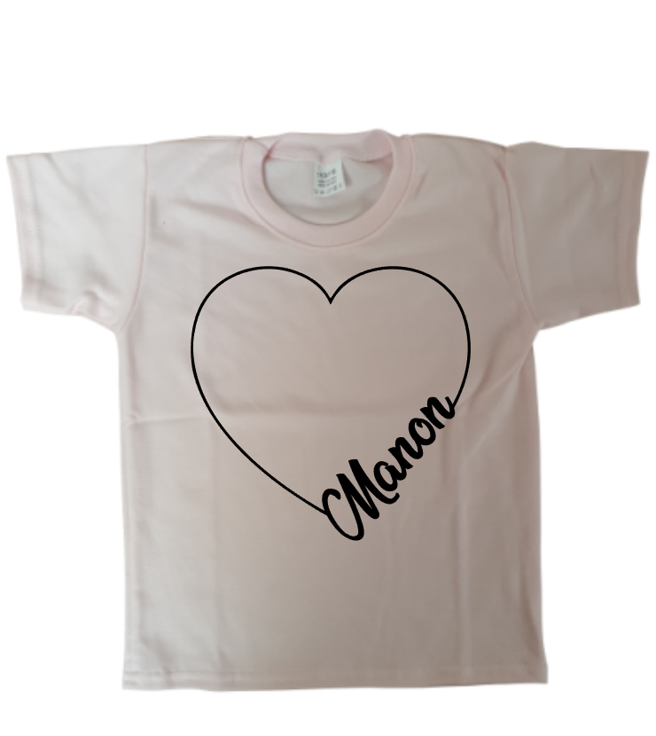 tshirt lovely name soft pink kid