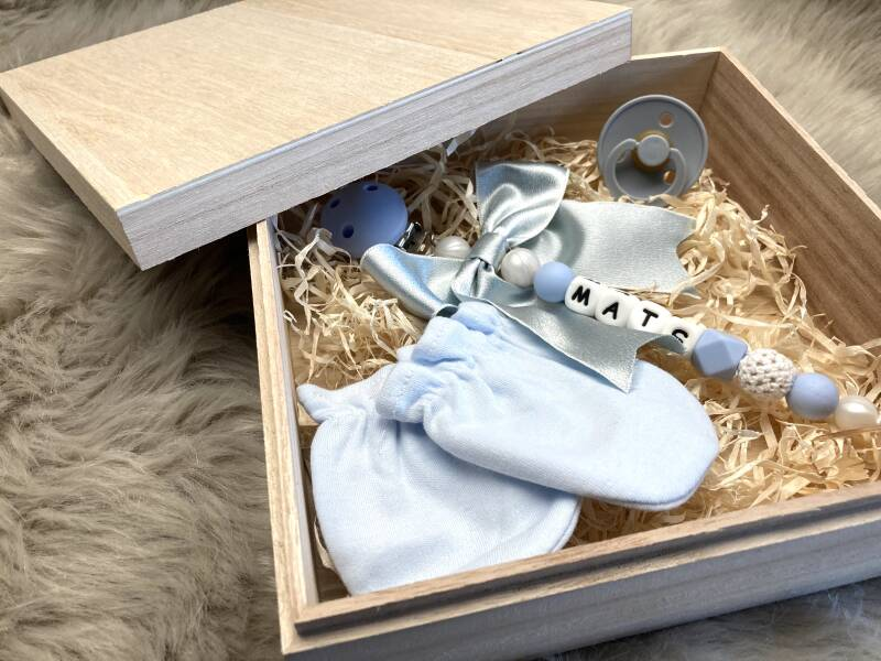 wooden birth box