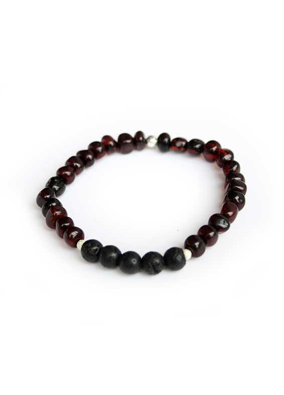 Armband Barnsteen Cherry (5mm)