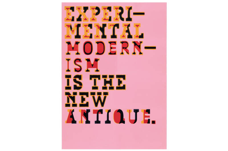 Typewood Poster 2 - Experimental Modernism is the New Antique