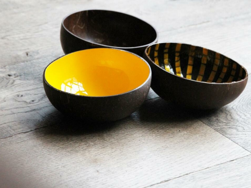 NIEUW Noya Coconut Bowl Plain Yellow
