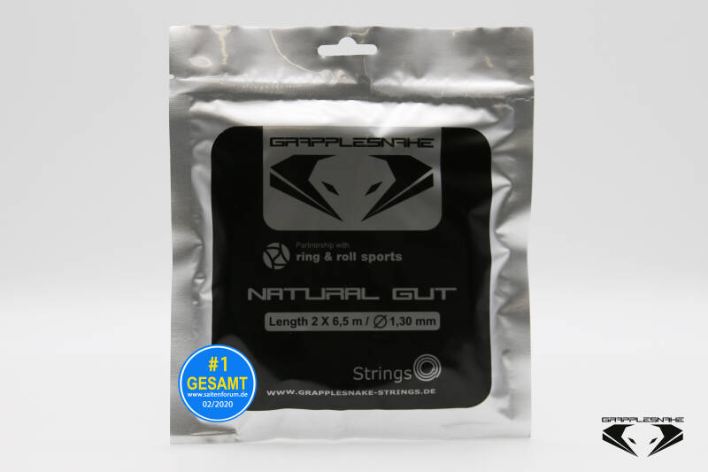Grapplesnake Natural Gut 1.30 Halve Set (6,5M) Tennissnaar