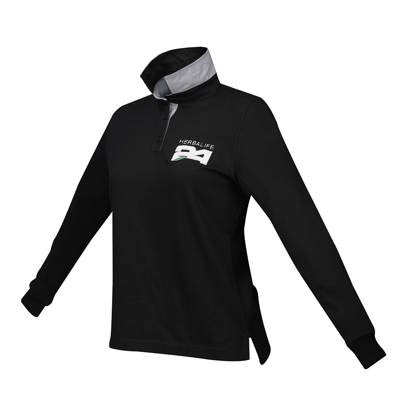 H24 Long Sleeve Polo dames Zwart