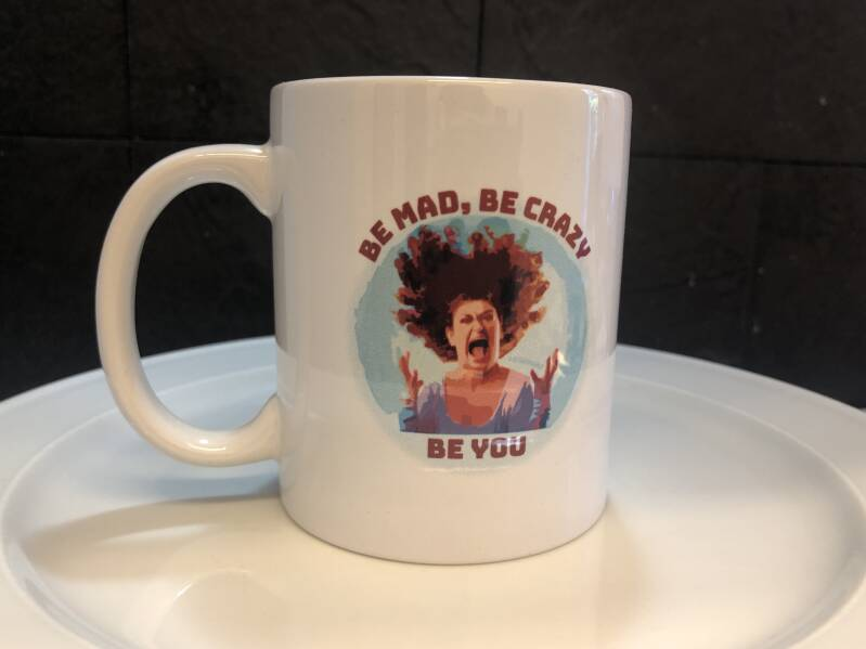 be mad, be you koffie tas