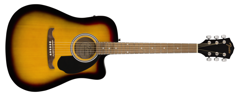 FA-125CE DREADNOUGHT, WALNUT FINGERBOARD