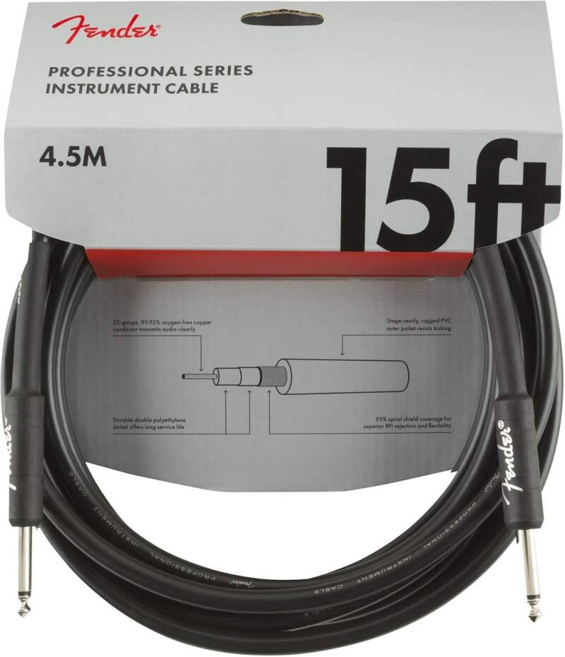 Fender professional series instrument cable 15 ft 4,5 m