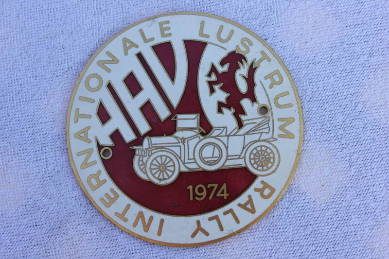 HAV herinneringsbadge Internationale Lustrum Rally 1974