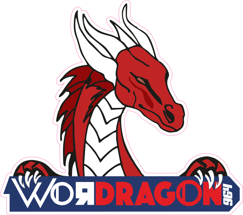 Cartoon sticker Wordragon