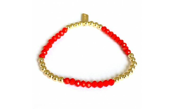 SIX ROW RED GOLD