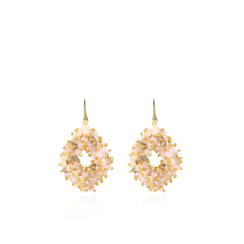 Holly Champagne Double Stones Glassberry Ace M   LOTT.Gioielli Earring