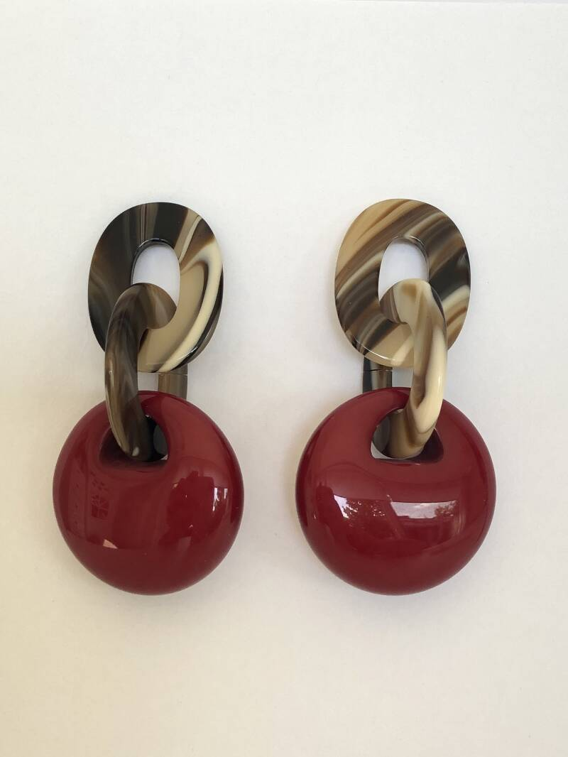 Mary Earring Perfect Red | Virginie