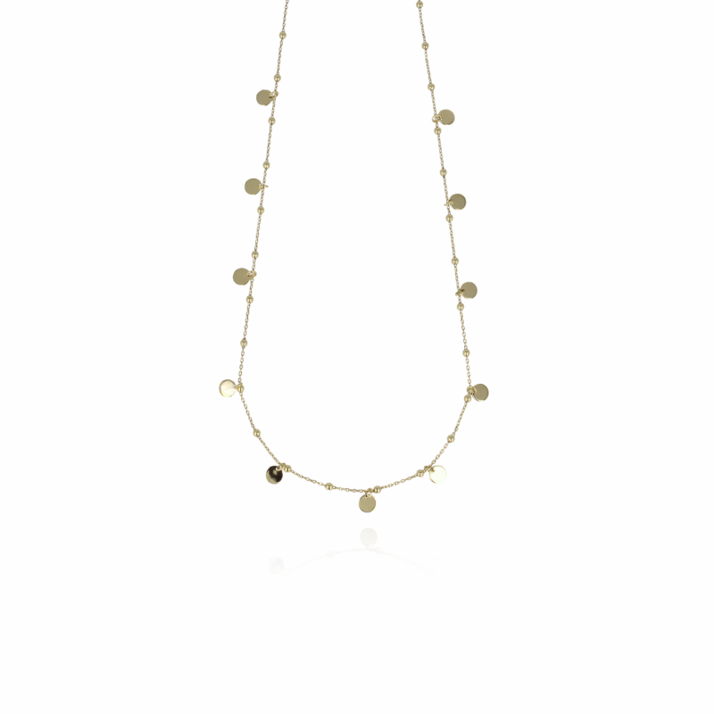 Golden Rosary Charms | LOTT.Gioielle Necklace