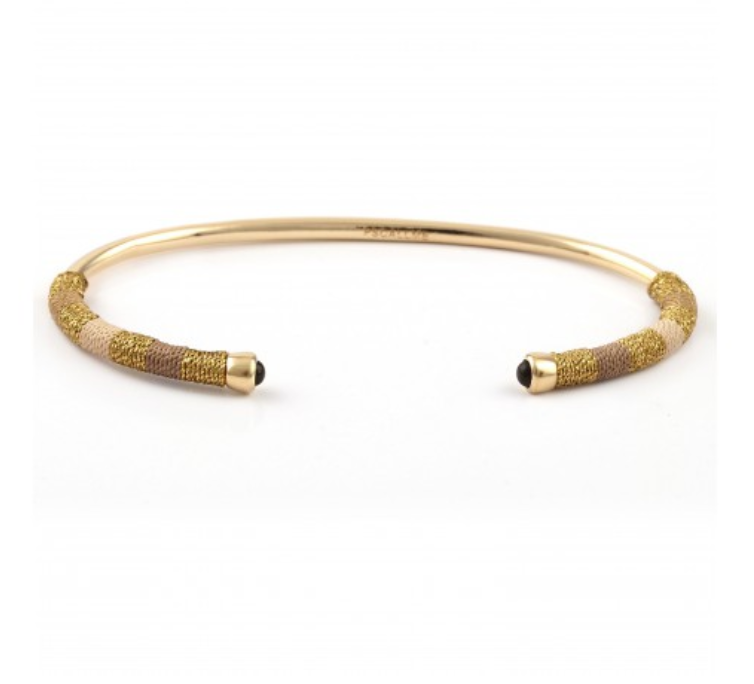 BANGLE ROPE SMALL SAND GOLDPLATED