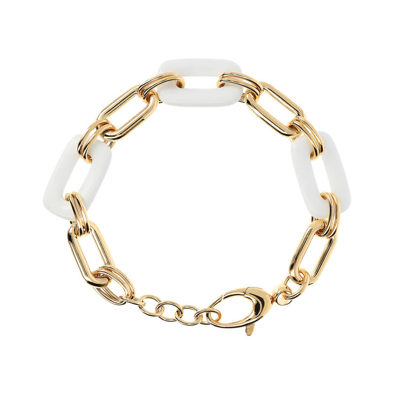 Forzatina Chain and Natural Stone Details Bracelet | Bronzallure