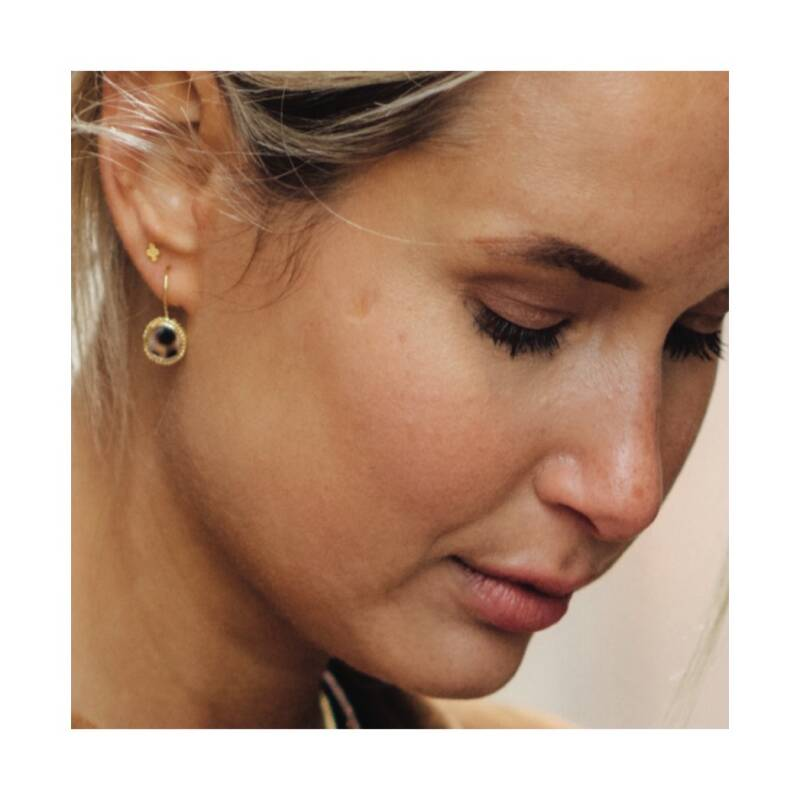 Tiger Shell Round Earring | Betty Bogaers