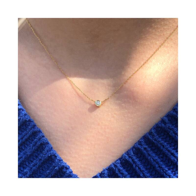 One Diamand ketting | Just Franky