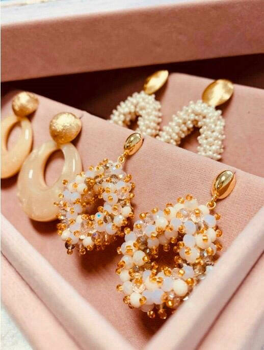 Holly Champgne Double Stones Glassberry Ace M | LOTT.Gioielli Earring