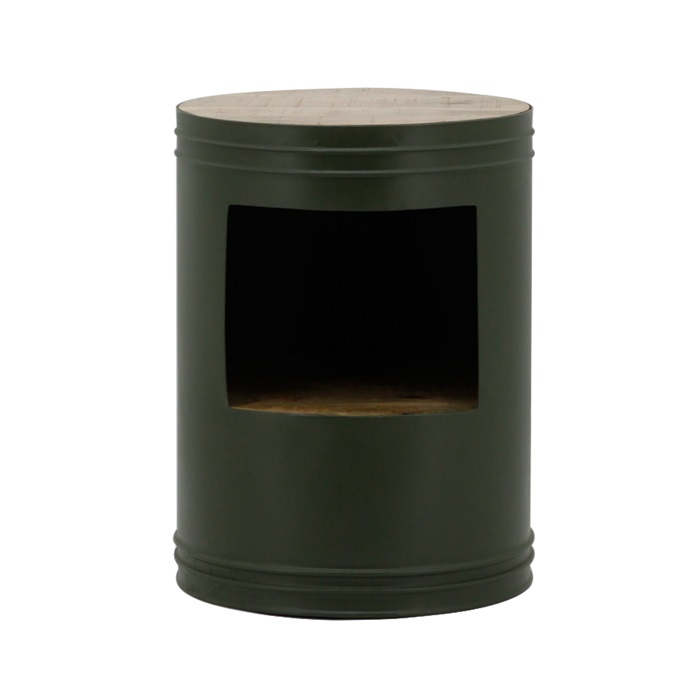 By boo sidetable Barrel green
