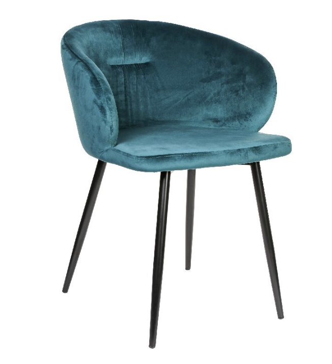 Move velvet teal chair