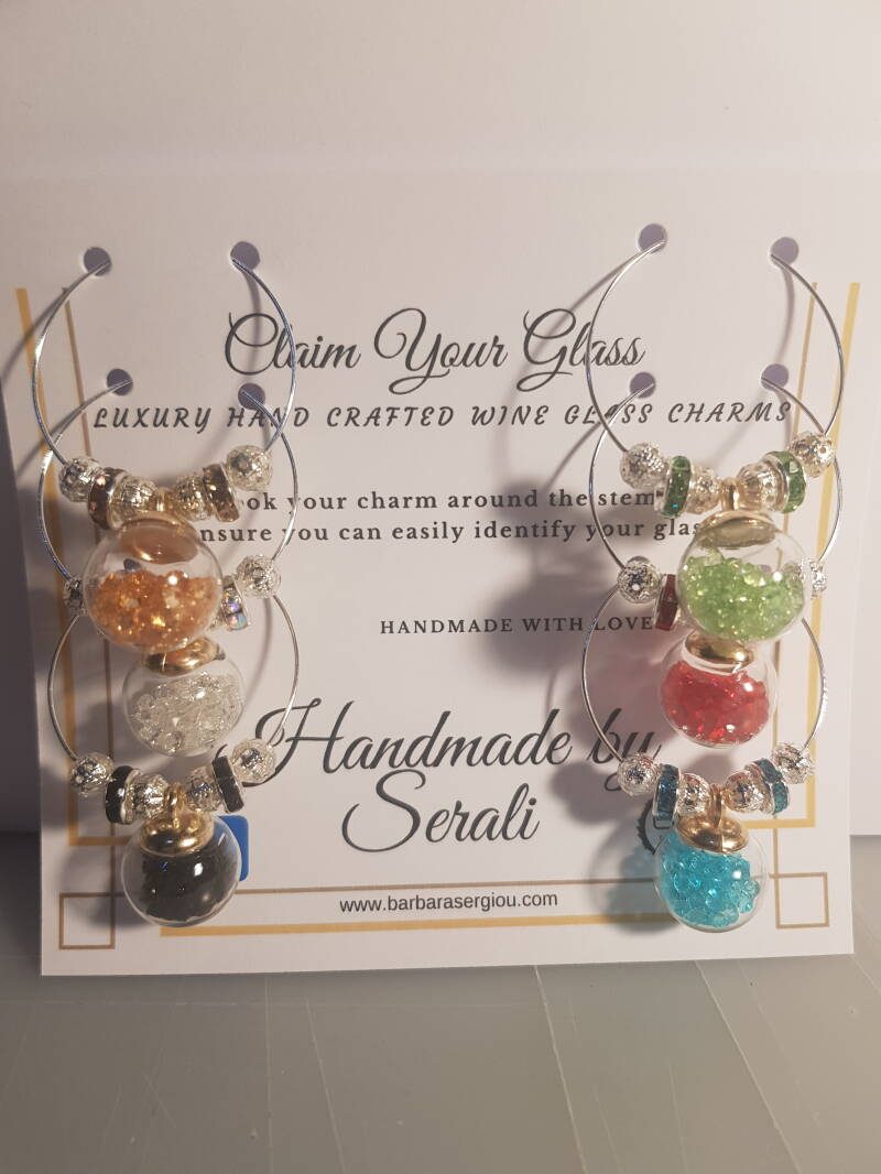 Wine Glass Charms - colors