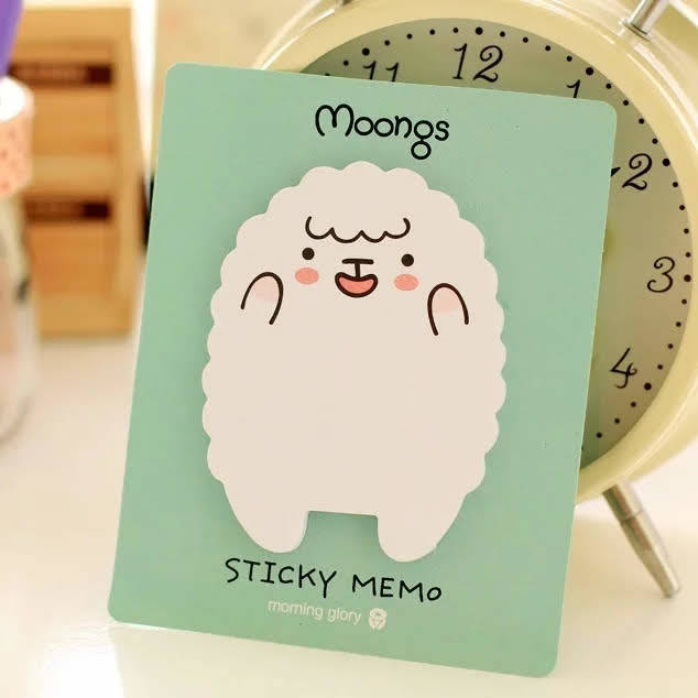 Moongs Sticky Memo schaap (groen)