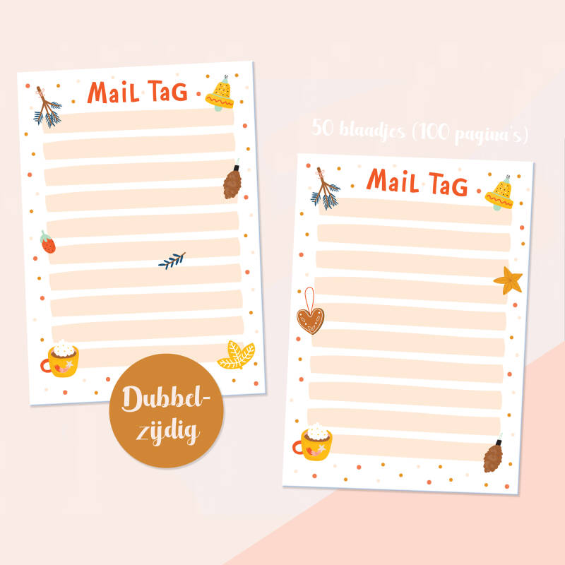 Merry & Bright Mail Tag