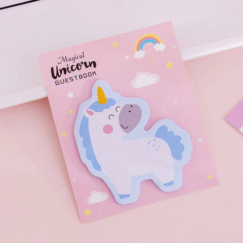 Guestbook unicorn Sticky Notes - blauw