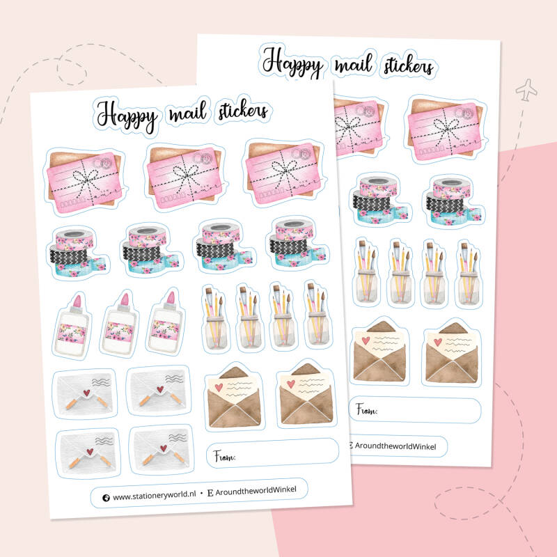 COMING SOON Happy Mail stickervel