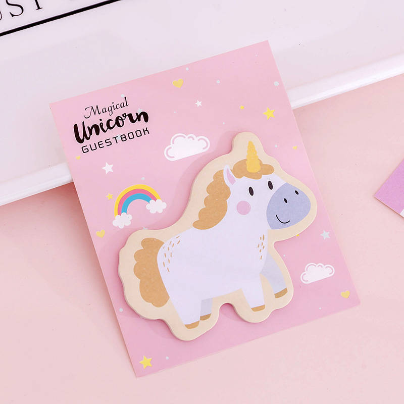 Guestbook unicorn Sticky Notes - geel