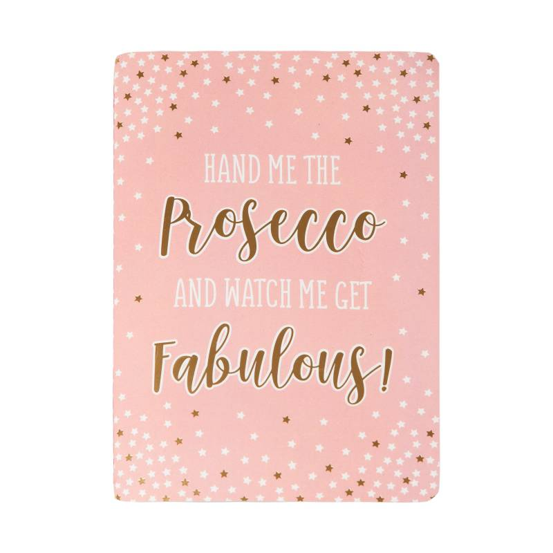 Sass & Belle Fabulous Pink Prosecco Party A5 schrift