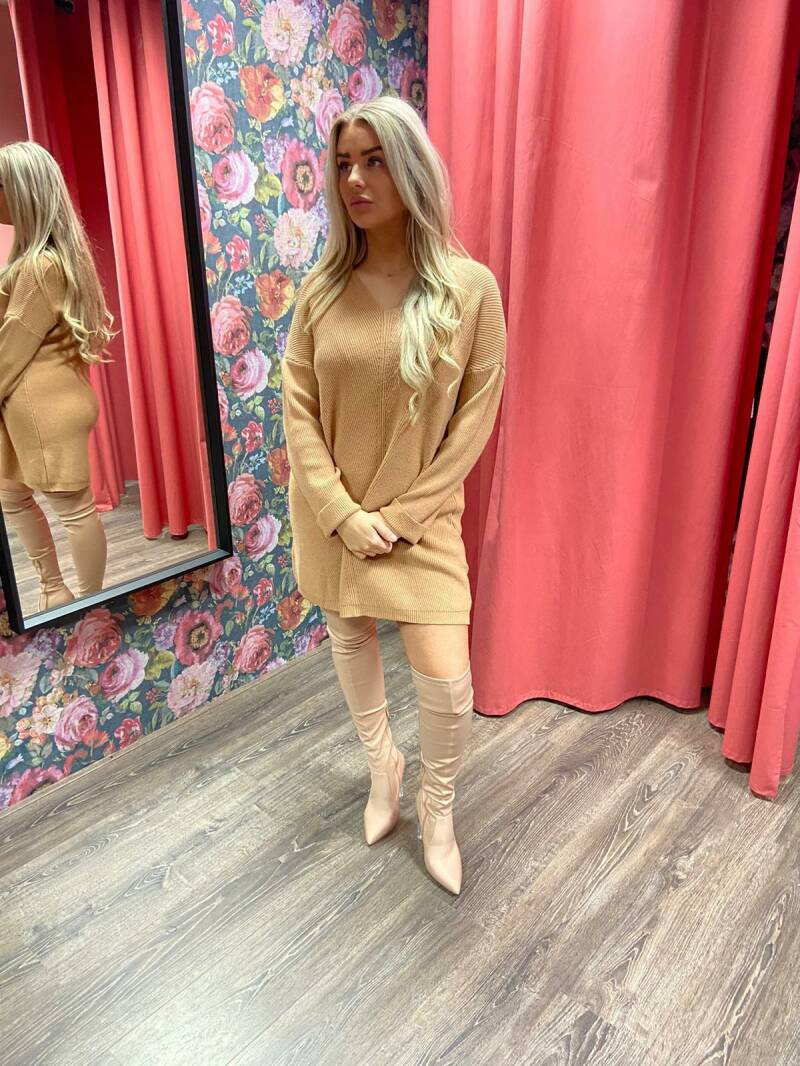 DRESS TUNIEK CAMEL